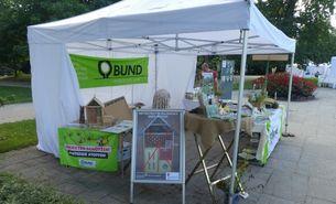 BUND Infostand am Insekten-Aktions-Wochenende von Bio Frankfurt im Palmengarten