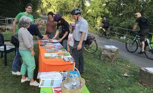 GrünGürtel Radtour 2021 - Stand der BUND Stadtgruppe Mitte