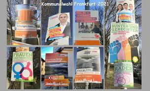 Wahlposter-Collage zu den Kommunalwahlen