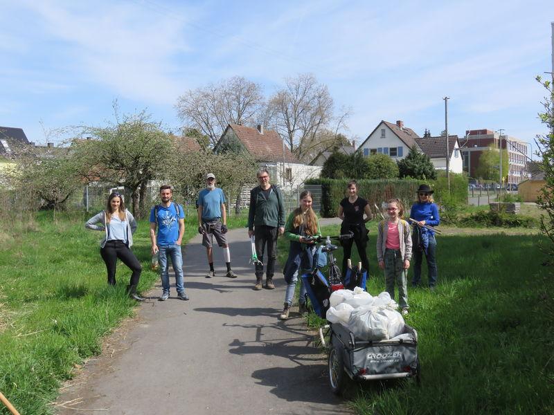 Der BUND OV Ost beteiligte sich am Frankfurter Clean Up Day 2021