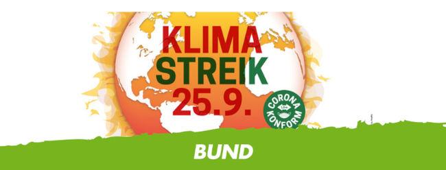 Banner zum Klimastreik