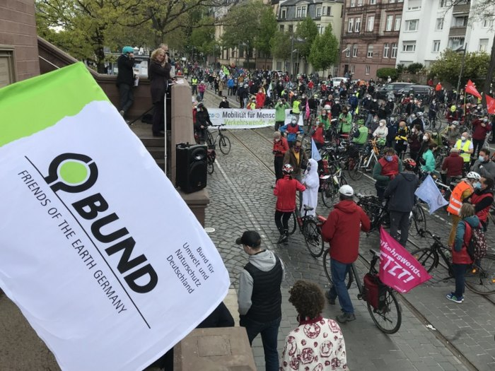 Mobilitätswende jetzt! Rad Demo am 2. Mai 2021 in Frankfurt